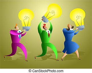 ideas team - team of business people creating ideas -...