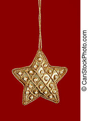 Christmas Star With Pearls and Gold
