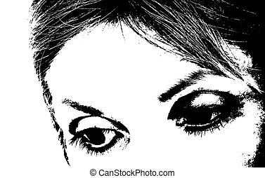 Eyes - High contrast black and white eyes