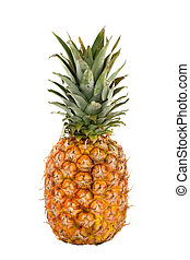 Tropical fruit - Colorful pineapple on isolated background