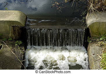 Drainage - Photo of a Drainage Ditch With Water Flowing