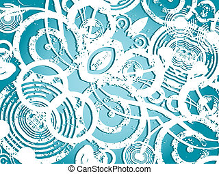 Grunge circles - Grunge background