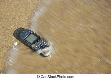 Technological flotsam - Mobile-Phone was washed ashore