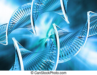Abstract DNA - DNA strands on abstract background
