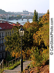 Autumn in Prague - Beautiful colors of autumn, golds and...