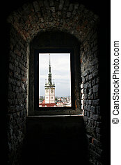 Olomouc town hall - View of town hall tower of Olomouc...