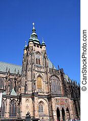 St. Vitus Cathedral - Saint Vitus cathedral on the grounds...