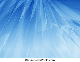 Blue glow feathers - Rendered 3d soft surfaces