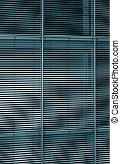 Shades structural glazing - Hi-tech building structural wall...