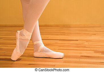 Ballerina #02 - Woman pointing with ballet shoes.