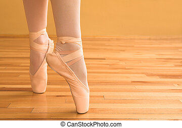 Ballerina #04 - Lady doing ballet in a studio.