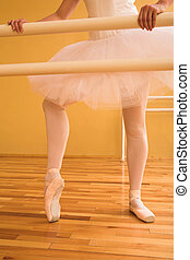 Ballerina #06 - Lady doing ballet in a dance studio.