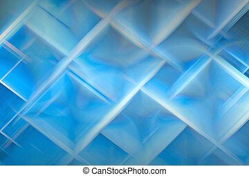 Crystalline structure - Abstract crystal-like ice design