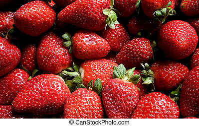 A Pile of Strawberries - Photo of a pile of strawberries.