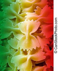 Pasta - Close-up of italian raw farfalle pasta