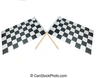 Crossed Raceing Flags - Crossed checkered raceing flags...