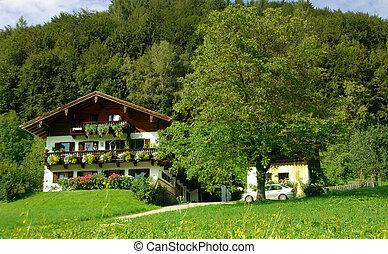 Farmhouse in the mountains