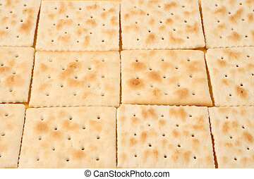 crackers - rows of square saltine crackers