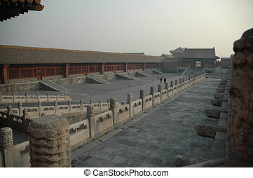 Forbidden Palace - courtyard in Forbidden Palace; Beijing,...
