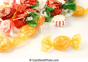 sugar candy - colorful and flavorful wrapped sugar candy