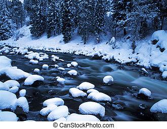 snöig, flod