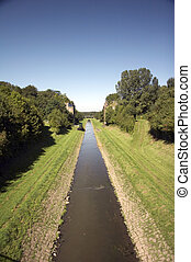 open waste water canal EMSCHER 01 - open waste water canal...
