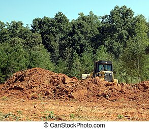 Construction Site - Photographed land clearing in Georgia...