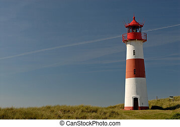 Lighthouse from the island sylt, germany.