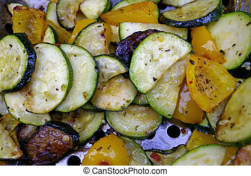 Veggie Delight - Veggies cooking on a barbeque grill