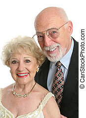 Elegant Seniors Portrait - A handsome senior citizen couple...