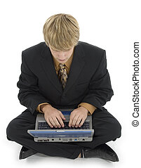 Young Man and Laptop