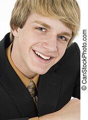 Teen in Suit - Attractive 15 year old teen boy in suit.