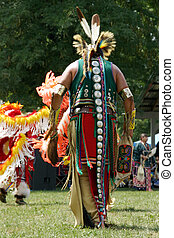 Meskwaki PowWow - Back Outfits - August 2006, Tama, Iowa