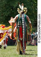 Meskwaki PowWow - Back Outfits - August 2006, Tama, Iowa
