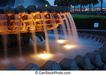 Water Pineapple at Waterfront Park in Charleston, SC