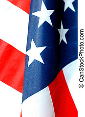 Stars and Stripes - close up of american flag