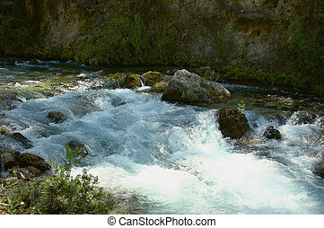 rushing water - fast flowing stream in turkey