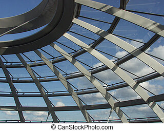 Reichstag Detail - Detail of the Reichstag cupola, crowning...