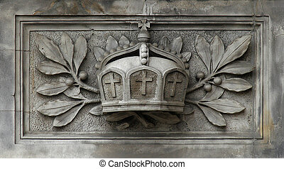 Imperial Crown - German imperial crown as an ornament on a...