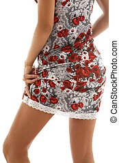 lace dress 3 - classical up-skirt image of fit lady