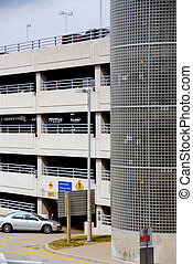 Parking garage - Car entering a parking garage