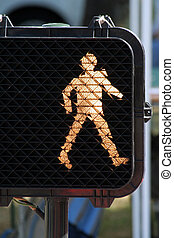 walk sign, safe cross the street.