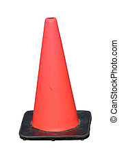 traffic safety cone - Red plastic traffic safety cone
