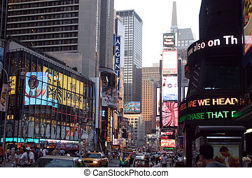 New York City Street - A photograph of a street in New York...