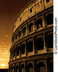 Colosseum sunrise - The Colosseum in Rome, Italy.