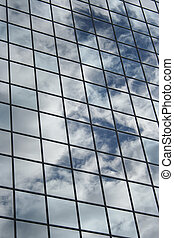 Clouds reflected background
