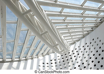 Modern Architecture - Architectural abstract - interior of a...