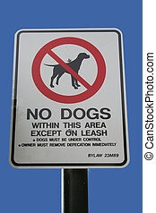 no, Perros, señal