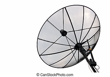 Satellite dish - Satellite receiver dish with clipping path