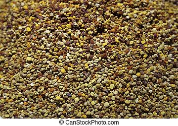 Bee Pollen - Granules of bee pollen - diiferent colours come...
